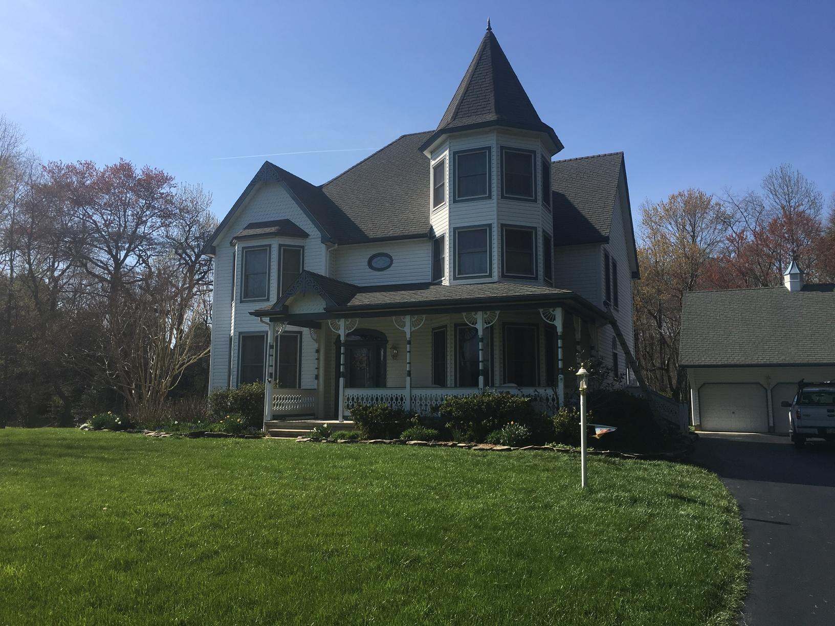 Owens Corning Duration Shingle and Slate Blue G-Tech Standing Seam Metal Roof Installation in Newark, DE - Before Photo