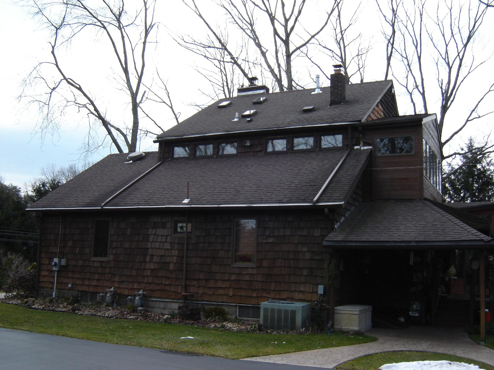 Burgundy Drexel Standing Seam Metal Roof Installation in Jackson, NJ - Before Photo