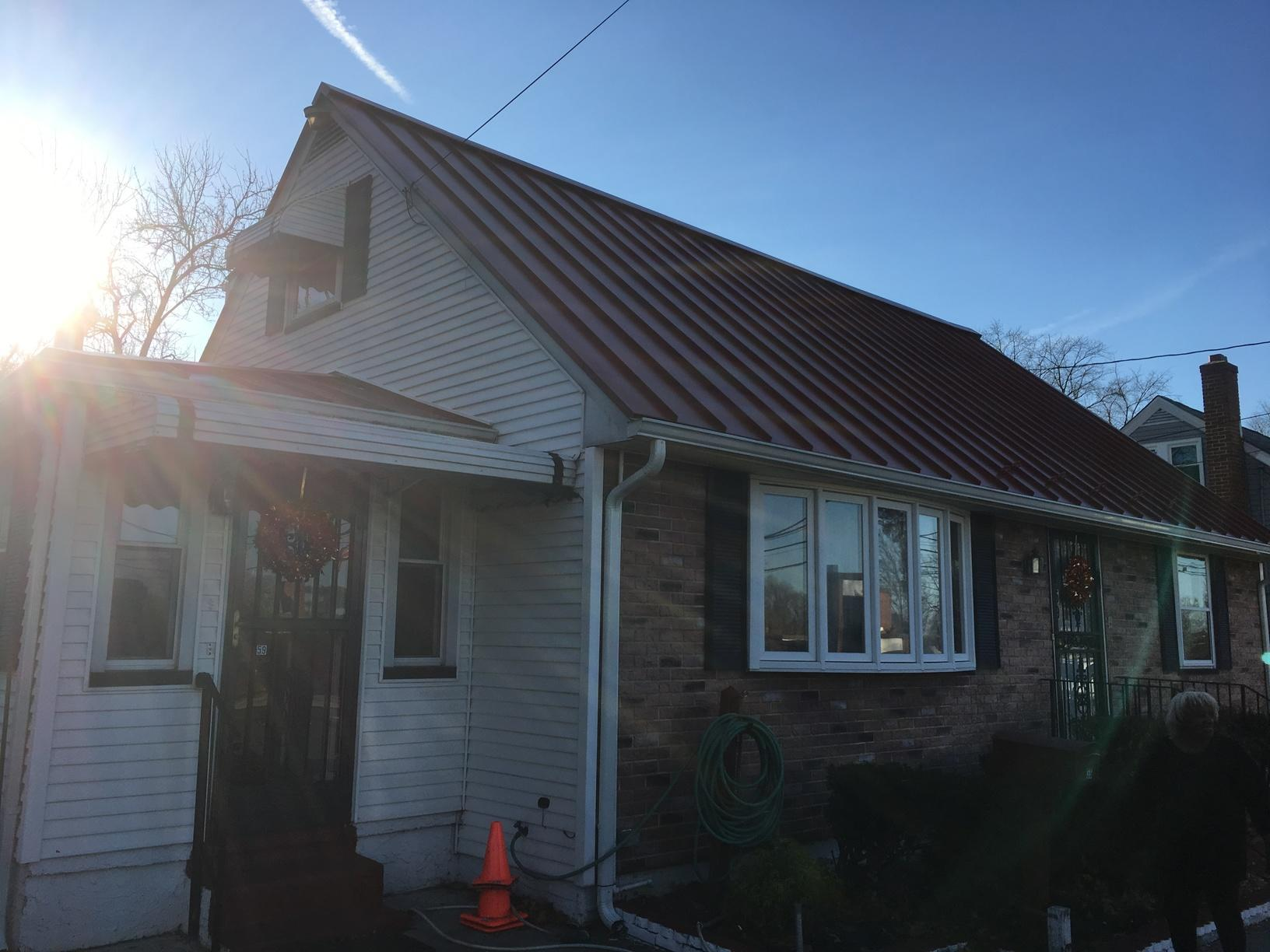 Drexel Terra Cotta Standing Seam Metal Roof with Snow Guards Installation in Hamilton Township, NJ - After Photo