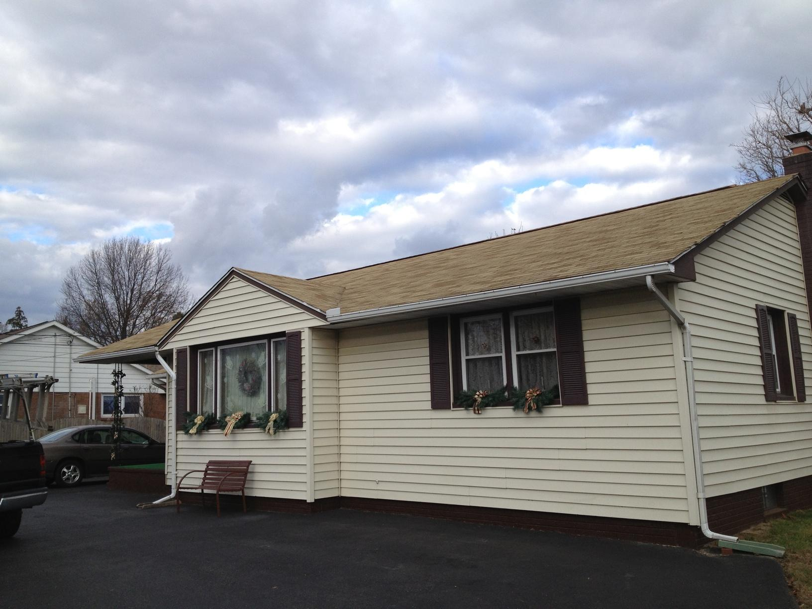 Replacing Storm-Damaged Shingles with Metal Shake Roof in Gibbstown, NJ - Before Photo