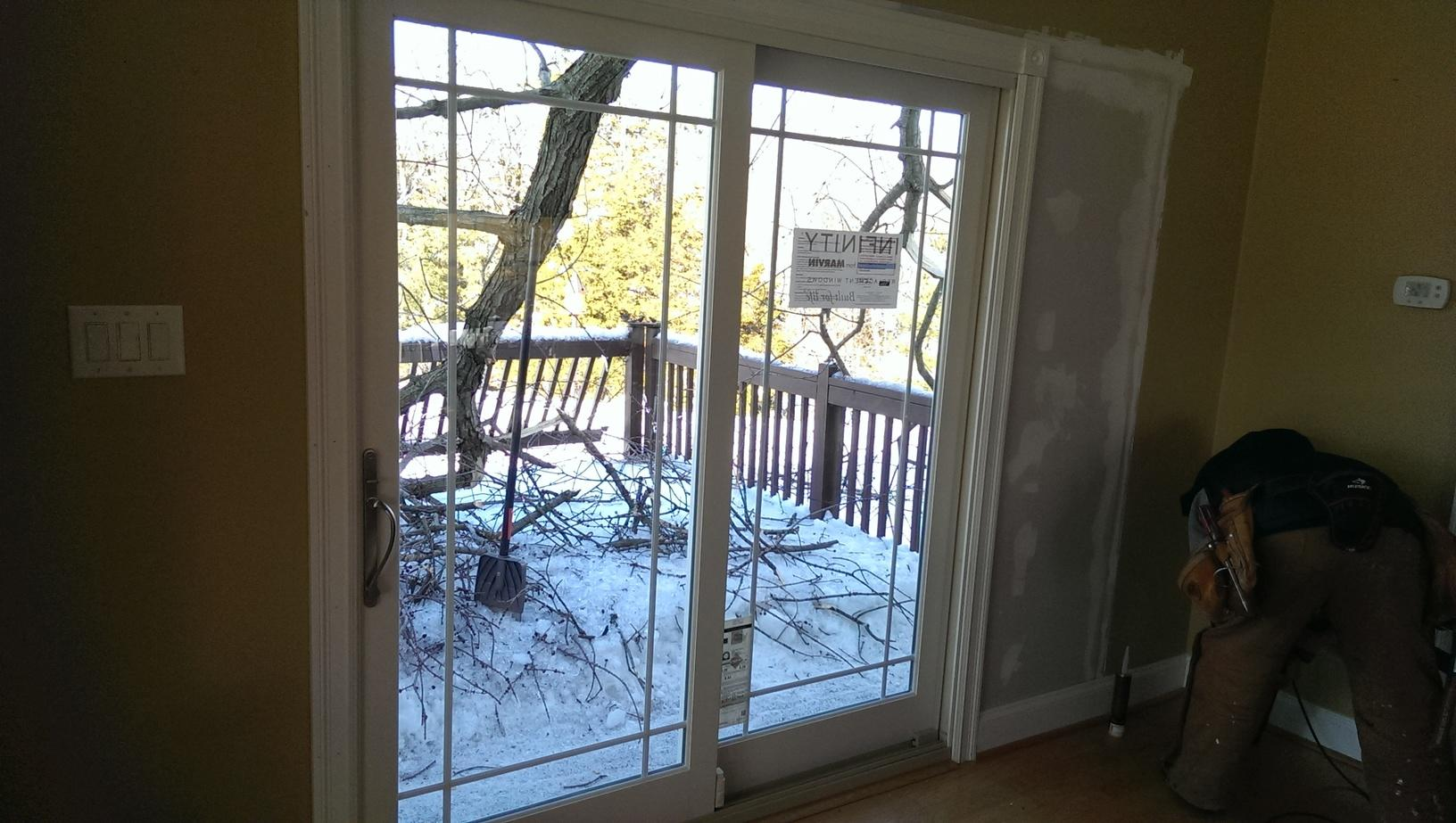 Replacing Old Patio Door with Marvin French Sliding Patio Door in New Hope, PA - After Photo