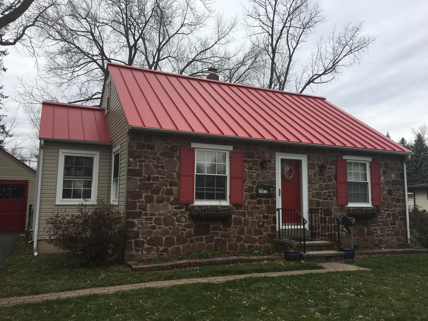 Replacing 15-Year-Old Two-Layer Asphalt Shingle Roof with Standing Seam Metal in Doylestown, PA - After Photo