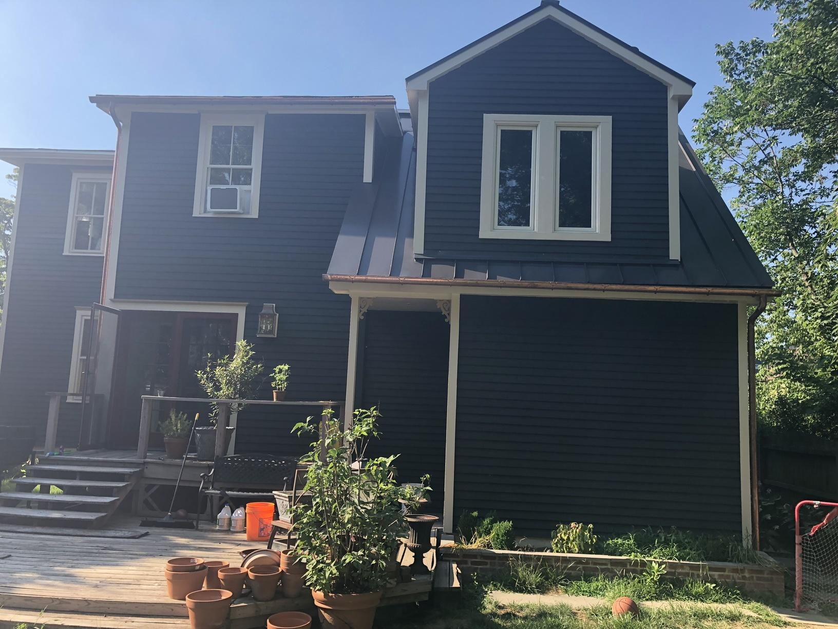 Replacing Old Asphalt Shingles with Mansard Brown Standing Seam Metal Roof in Haddonfield, NJ - After Photo