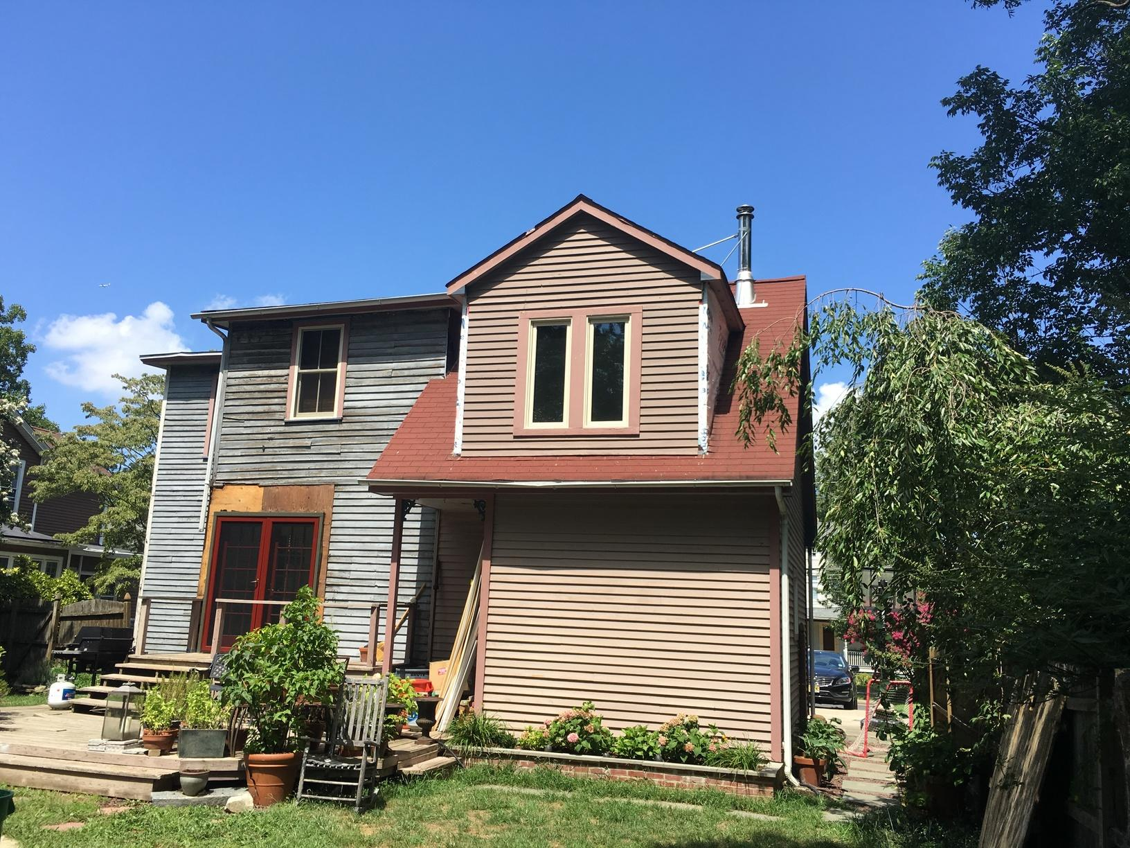 Replacing Old Asphalt Shingles with Mansard Brown Standing Seam Metal Roof in Haddonfield, NJ - Before Photo