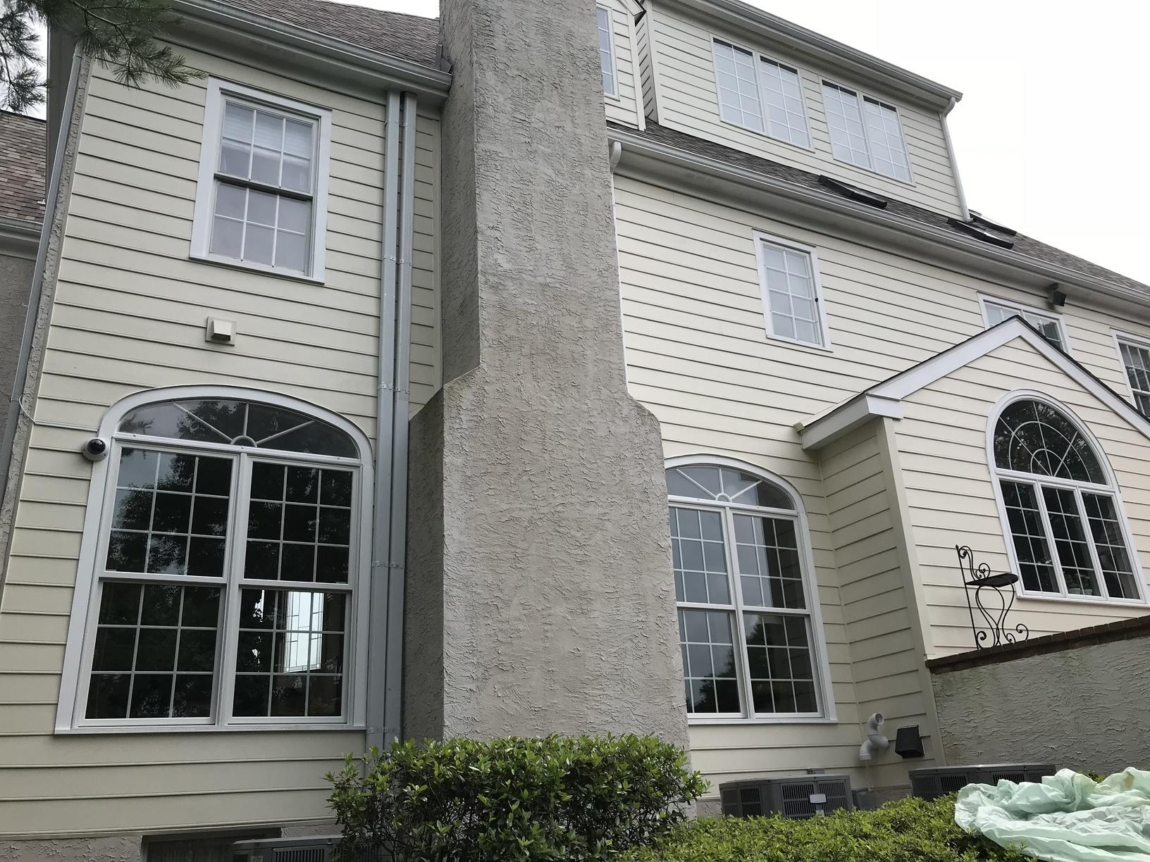 Replacing Water-Damaged Stucco with Sail Cloth Beaded Fiber Cement Planks in Newtown Square, PA - After Photo