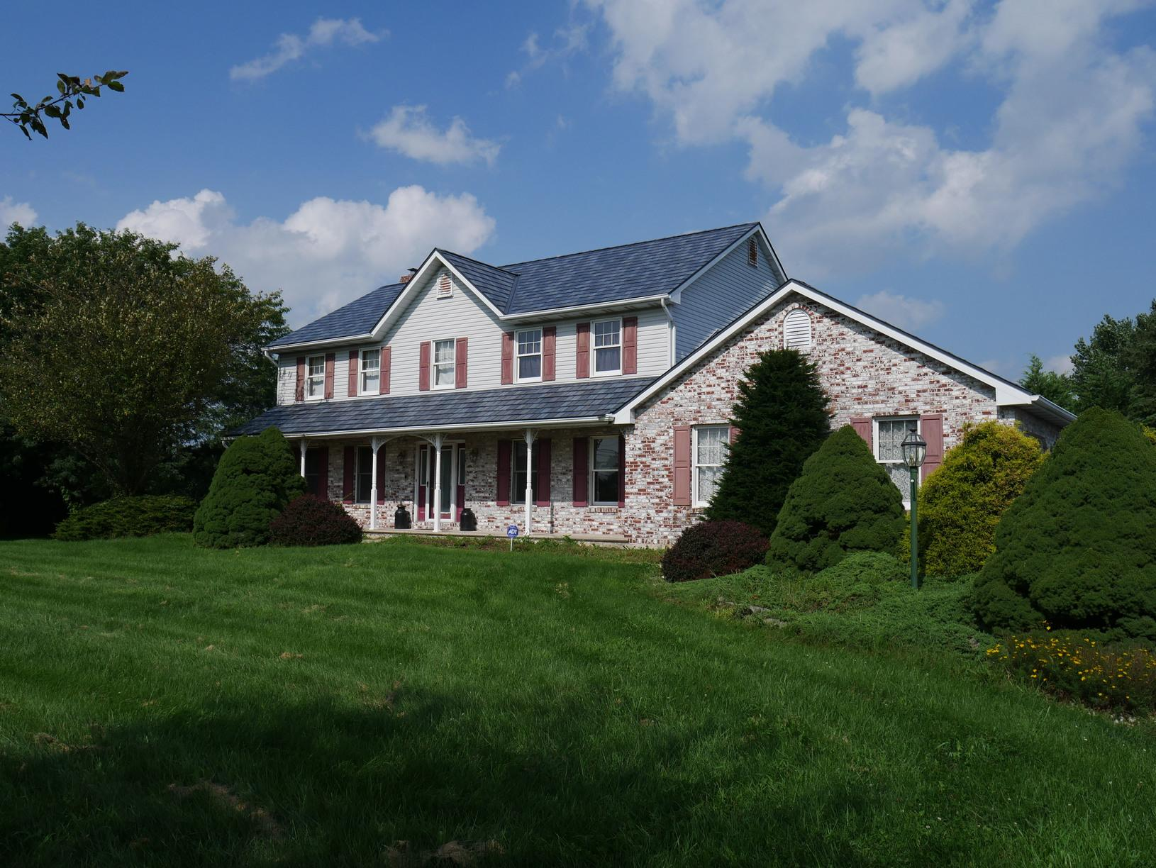 Replacing Old Asphalt Shingles with Metal Slate in Northampton, PA - After Photo