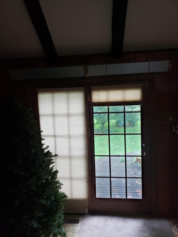 Replacing Patio Door with Marvin Infinity Fiberglass Sliding Patio Door in Glen Mills, PA - Before Photo