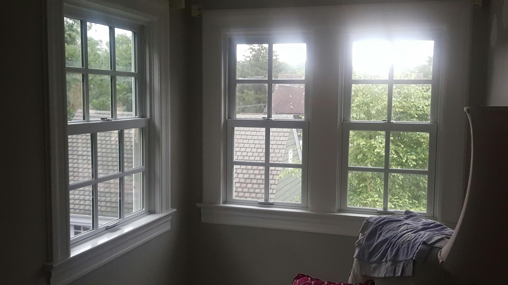 Replacing Sunroom's Wooden Double Hung Windows with Marvin Infinity Fiberglass Windows in Ridgewood, NJ - After Photo
