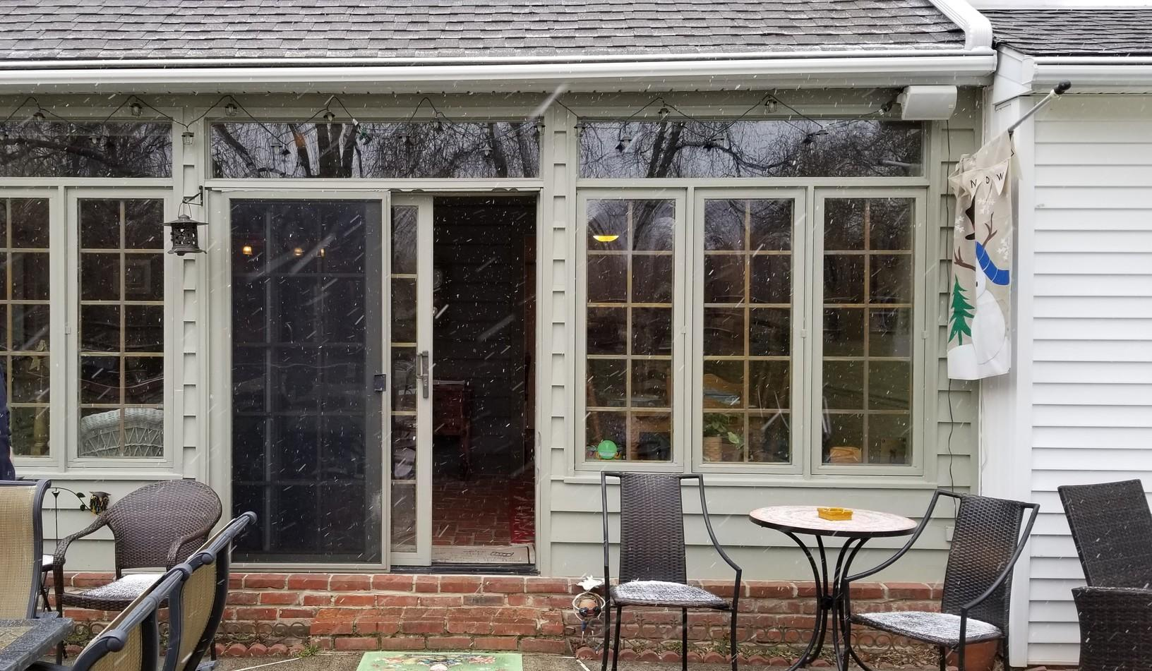 Fiberglass Picture, Installing Infinity Sliding Patio Door in West Chester, PA - Before Photo