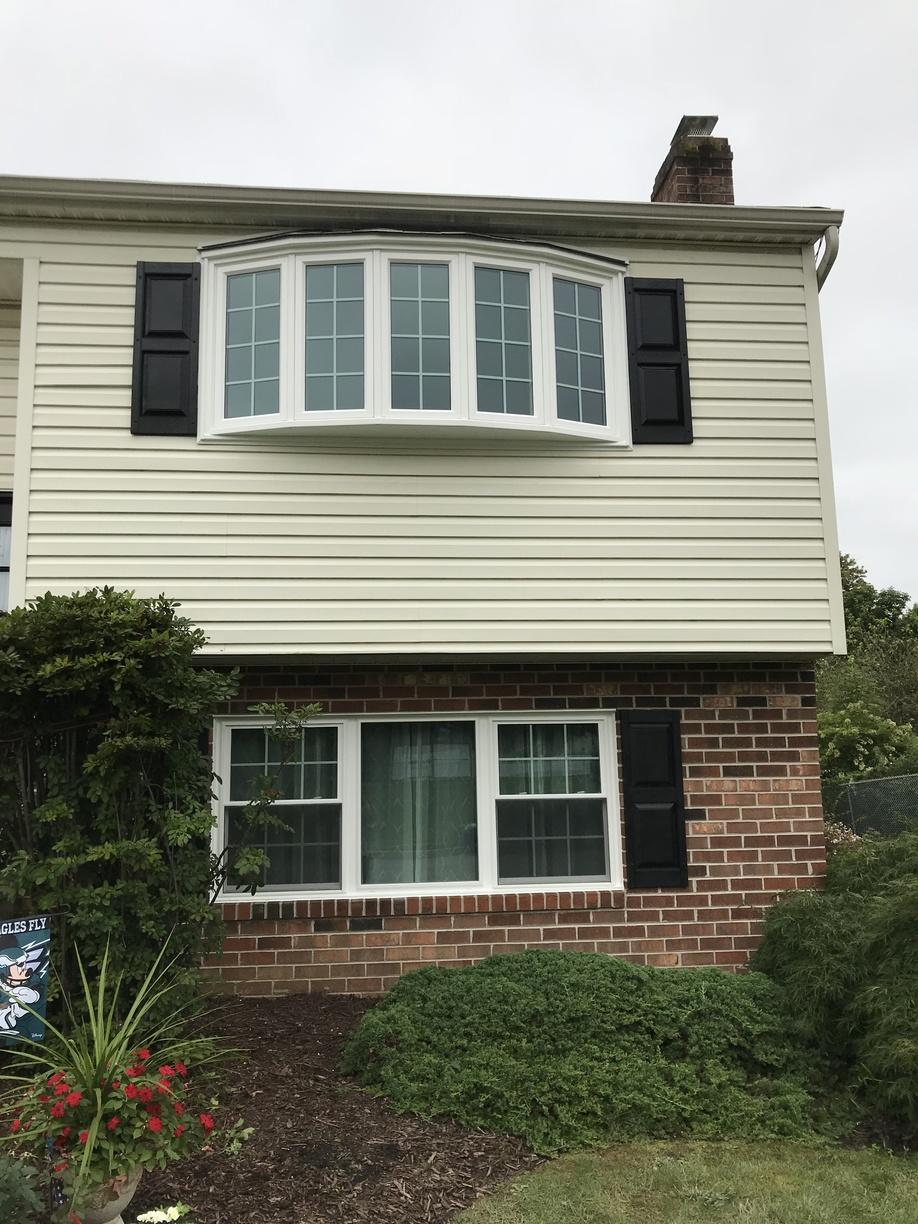 Replacing Old Metal Windows with Custom Vinyl in Aston, PA - After Photo