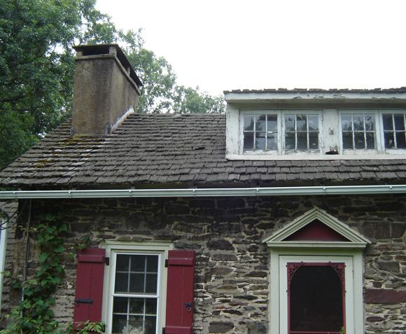 Red Metal Roof Installation on Historic Colonial in Wrightstown, PA