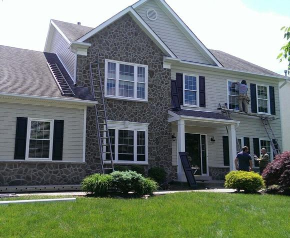 James Hardie Plank Siding with Provia Stone Siding in Doylestown, PA
