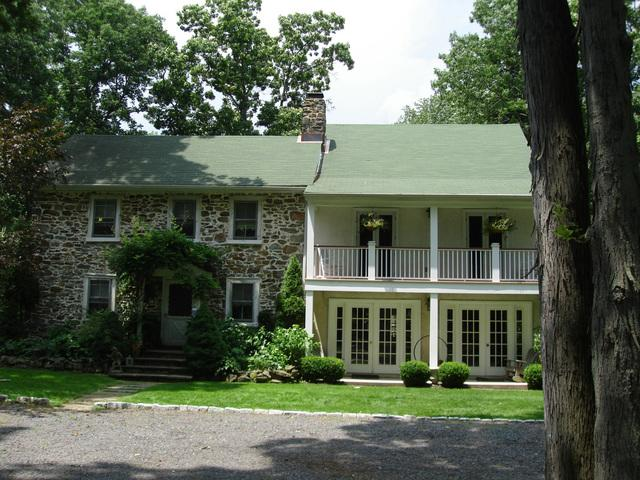 Metal Roof Replacement on Kintnersville, PA Historic Home - Before Photo