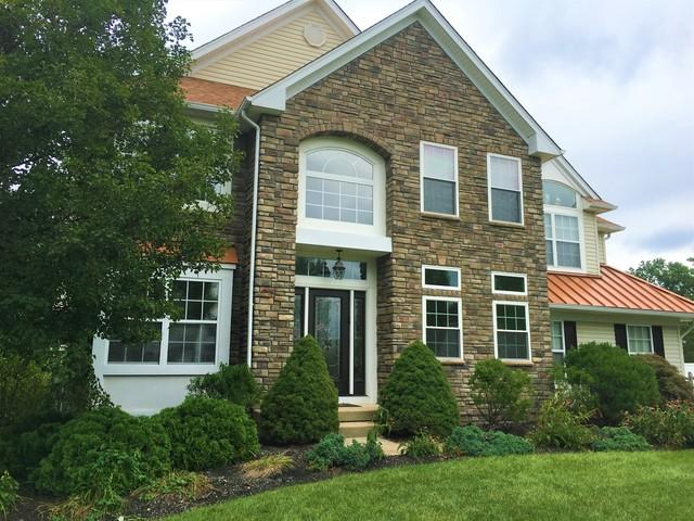 Stone Siding, Metal Roofing and New Construction Window Install in Jamison, PA