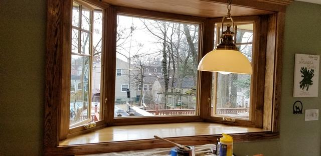 Marvin Infinity Bay Window with Casement Windows Replacement in Glen Ridge, NJ