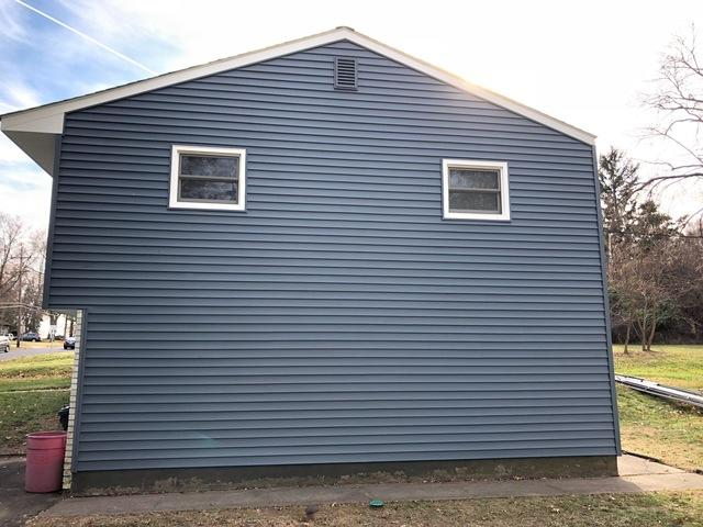 Harbor Blue GlobalTech Insulated Vinyl Siding Installation in Yardley, PA