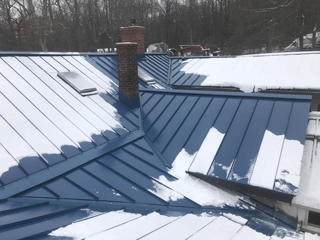 Deep Blue Sea G-Tech Standing Seam Metal Roof Installation in Newfoundland, NJ