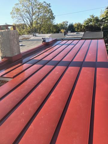Colonial Red Drexel Standing Seam Metal Roof installation is West Chester, PA - After Photo