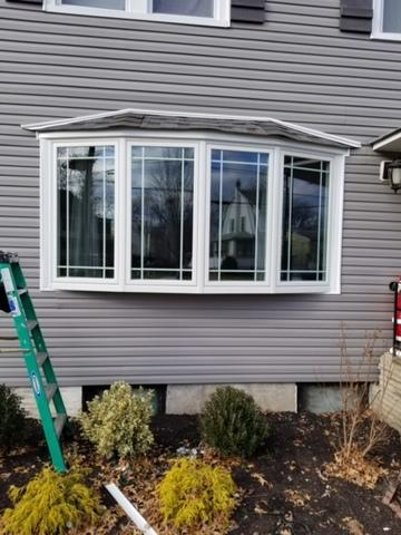 Marvin Infinity Bow Window with Prairie Grilles Installation in Union, NJ