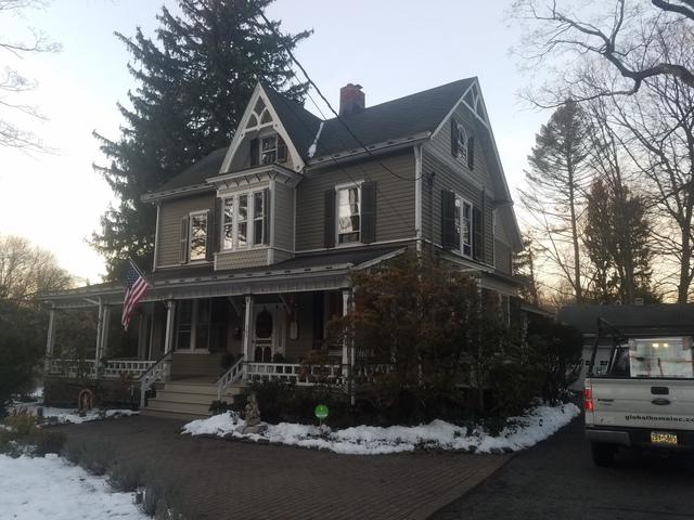 Black Matte Drexel Standing Seam Metal Roof Installation on Victorian Style Home in Closter, NJ