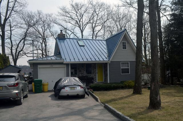 Deep Blue Sea Standing Seam Metal Roof Installation in Highland Lakes, NJ