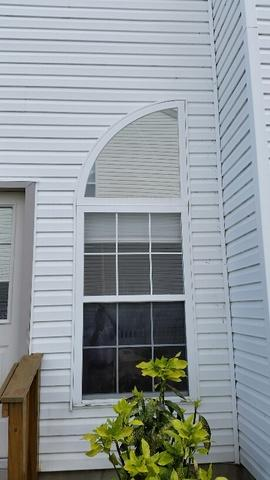 Global Tech Vinyl Double Hung and Quarter Moon Window with Tempered Glass Installation in Marlton, NJ - Before Photo