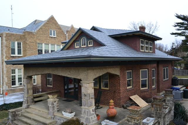 Sierra Slate Grey Tamco Metalworks Metal Slate Roof Installation in Riverton, NJ