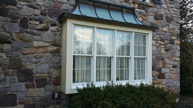 Beechworth Windows with SDL Grids, White Exterior, and Wood Interior installation in Yardley, PA