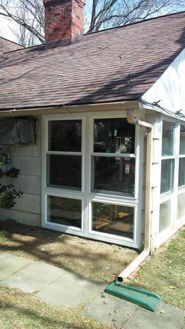 Installing Vinyl Awning Window Ensemble on Home in Jenkintown, PA
