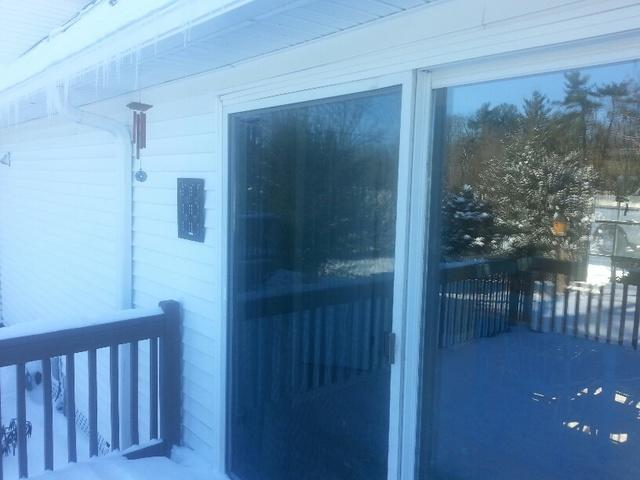 Replacing Old Patio Door with Marvin French Sliding Patio Door in New Hope, PA - Before Photo
