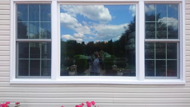 Replacing Old, Swollen Double Hung and Picture Window Ensemble with Marvin Infinity Windows with Grilles and Low E 366 Glass in Manalapan, NJ