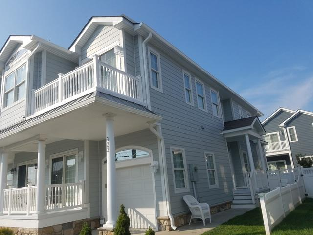 Replacing Stucco on Beach Home with James Hardie Fiber Cement Cedarmill Planks in Wildwood Crest, NJ