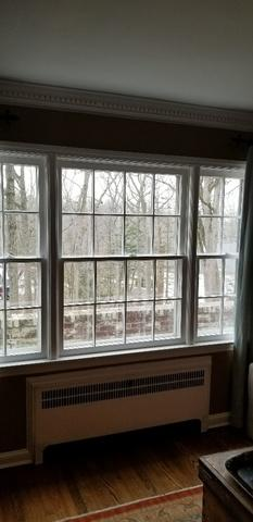 Replacing Wood Double Hung Window Ensemble with New Fiberglass Double Hungs in Essex Fells, NJ