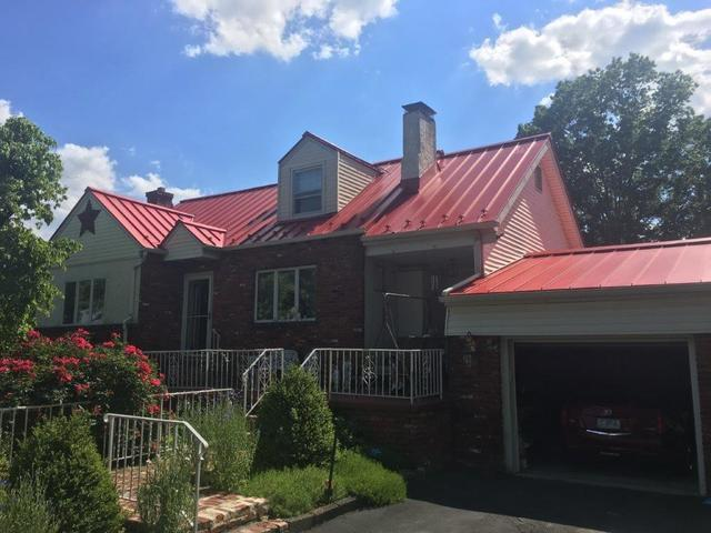 Replacing 20-Year-Old Shingles with Brilliance Red Metal Roof in Langhorne, PA
