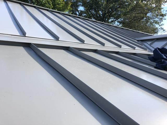 Replacing Asphalt Shingles with  Standing Seam Metal Roof in Bristol, PA