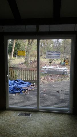 Replacing Patio Door with Marvin Infinity Fiberglass Sliding Patio Door in Glen Mills, PA
