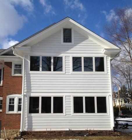 Replacing Two-Level Sun Porches Screened Windows with Marvin Infinity Casement and Picture Windows in Oreland, PA
