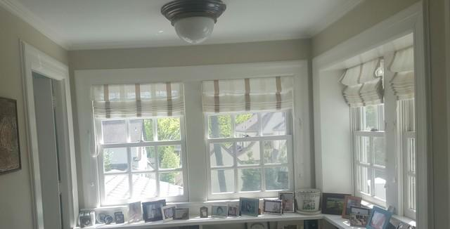 Replacing Sunroom's Wooden Double Hung Windows with Marvin Infinity Fiberglass Windows in Ridgewood, NJ - Before Photo