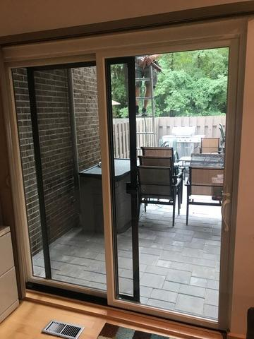 Replacing Sliding Patio Door with Marvin Infinity Sliding Patio Door in Washington Township, NJ