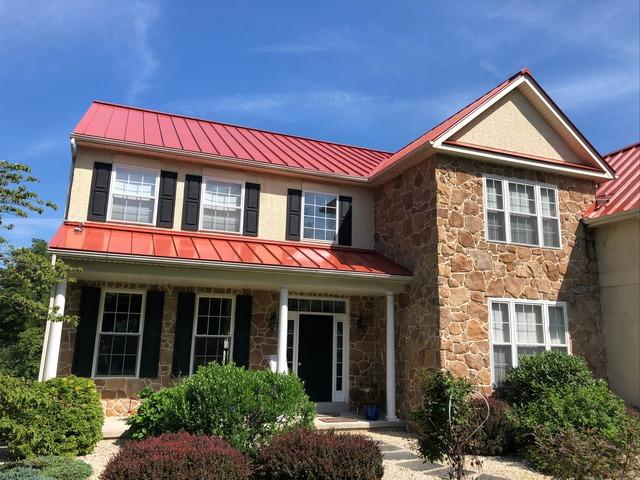 Removing  Asphalt Shingles and Solar Panels and Installing Terra Cotta Standing Seam Metal Roof in Downingtown, PA