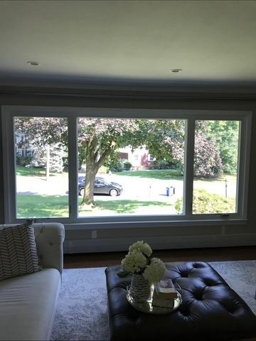 Replacing Wood Windows from the 60's with Custom Marvin Infinity Fiberglass Windows in North Caldwell, NJ