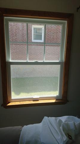 Replacing Vinyl Double Hung Window with Marvin Infinity Fiberglass Double Hung in North Arlington, NJ