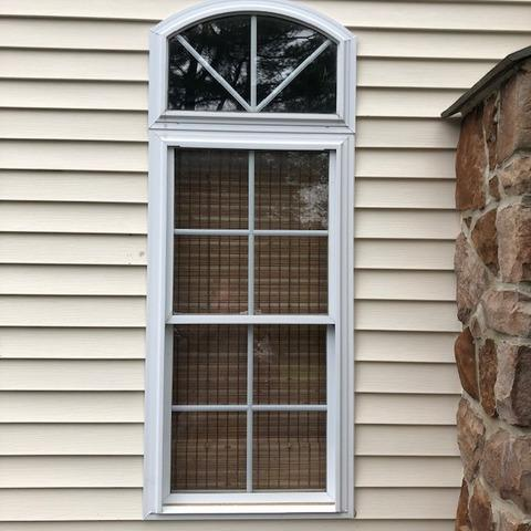 Replacing Vinyl Windows with Made-to-Fit Marvin Infinity Double Hung and Picture Window in Churchville, PA