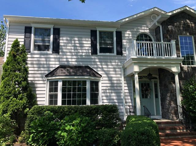 Updating Vinyl Siding on West Long Branch, NJ Home and Installing Custom ProVia Stone and Marvin Wood Clad Windows