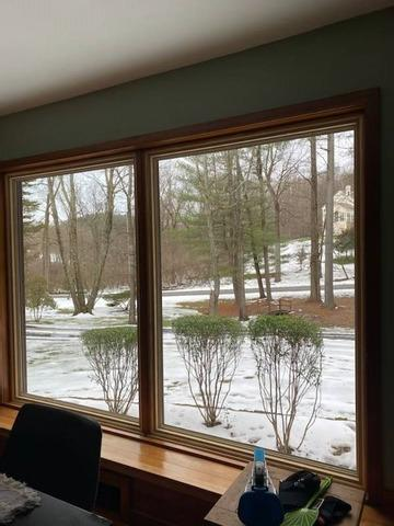 Installing Large Marvin Infinity Windows with Everwood Interior Finish on West Chester, PA Home - After Photo