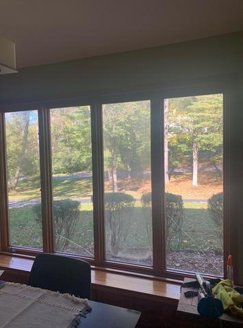 Installing Large Marvin Infinity Windows with Everwood Interior Finish on West Chester, PA Home - Before Photo