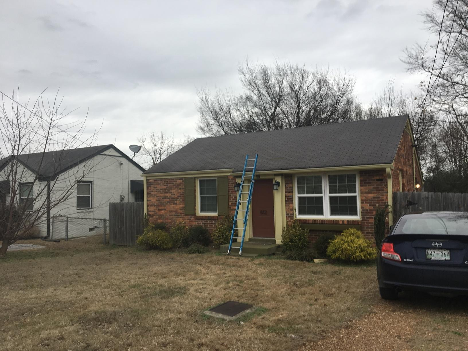 Nashville Wind Damaged Roof Replacement - Before Photo