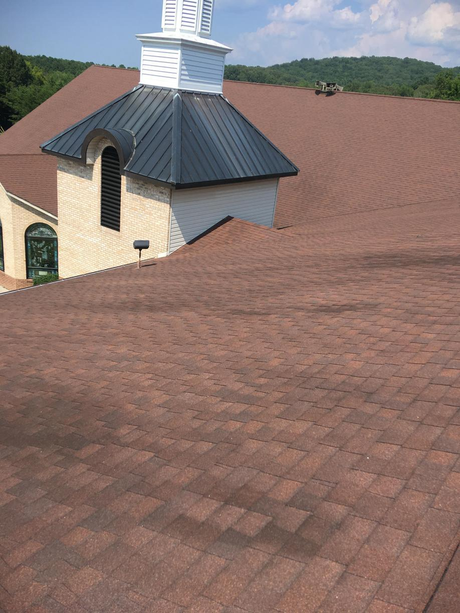 Hail Damaged Roof Replacement in Ten Mile, TN - Before Photo