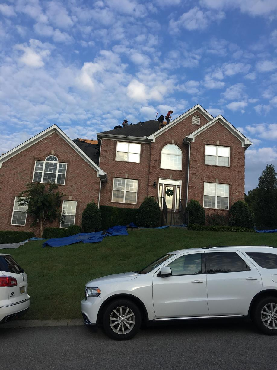 Goodletsville, TN Roof Replacement Owens Corning Onyx Black - Before Photo