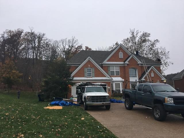 Tree damage leads to Roof and Gutter Replacement, Brentwood